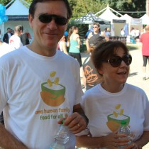 Caritas staff and fans run to stop hunger