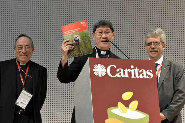 Cardinal Tagle holds the Caritas Food Report