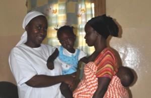 Hermana Eugénie Andrée Benga, enfermera en Senegal