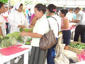 Nicaragua Week of Action fresh food fair